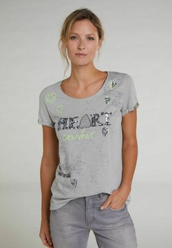 Oui - T-Shirt print - light grey