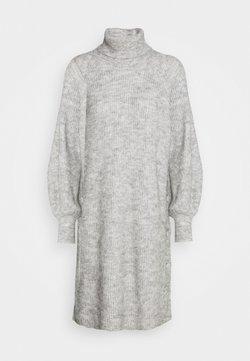 YAS - YASALLU ROLL NECK DRESS - Strikkjoler - light grey melange