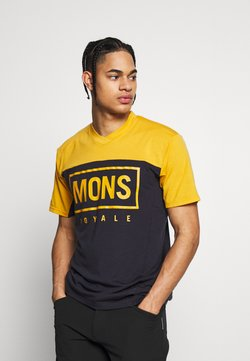 Mons Royale - REDWOOD ENDURO - T-Shirt print - gold/iron