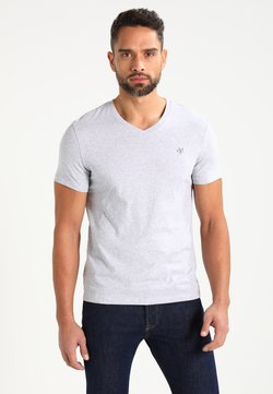 Marc O'Polo - BASIC V-NECK - T-Shirt basic - grey