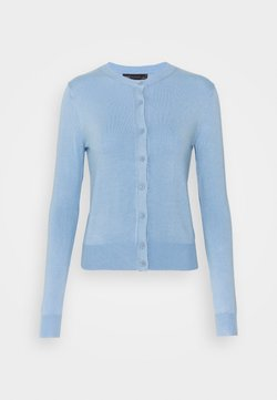 Marks & Spencer London - CREW CARDI PLAIN - Cardigan - blue