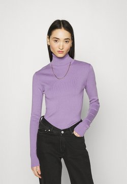 Weekday - KIRSTEN TURTLENECK - Strickpullover - milky purple