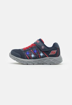 Skechers - DYNAMIC FLASH - Sneaker low - navy/red