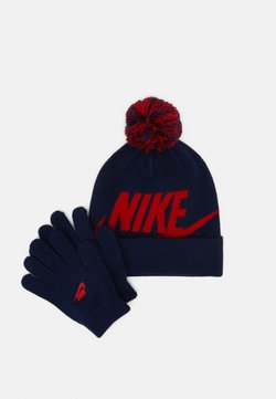 Nike Sportswear - POM BEANIE GLOVE SET - Gants - midnight navy