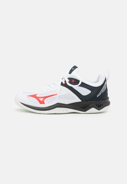 Mizuno - GHOST SHADOW - Indoorskor - white/ignition red/salute