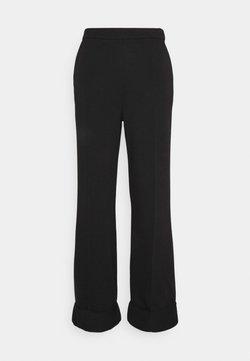 NA-KD - WIDE LEG PANTS - Trousers - black
