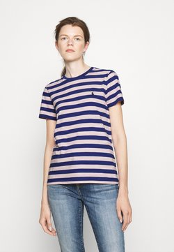 Polo Ralph Lauren - SHORT SLEEVE - T-Shirt print - royal navy/pink sand