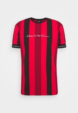 Kings Will Dream - VEDTON STRIPE TEE - T-Shirt print - red/black