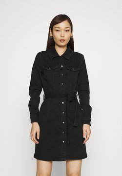 ONLY - ONLCOLUMBIA LIFE DRESS - Denim dress - black denim