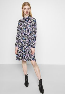 JDY - JDYPIPER DRESS - Blusenkleid - black iris/purple/parisian blue