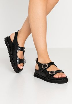 Glamorous - Sandalen met plateauzool - black