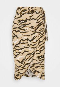 Marks & Spencer London - ANIMAL WRAP MIDI - Blyantnederdel / pencil skirts - sand