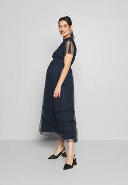 Anaya with love Maternity - KEYHOLE FRONT SHORT SLEEVE MIDI DRESS  - Vestido de fiesta - navy
