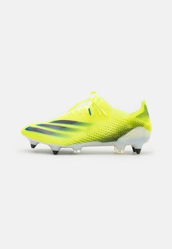 adidas Performance - X GHOSTED.1 SG - Nurmikengät - solar yellow/core black/royal blue