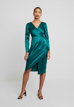 Closet - DRAPE SKIRT WRAP DRESS - Hverdagskjoler - green
