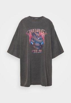 Missguided - SAVAGE SNAKE DRESS - Vestido ligero - charcoal