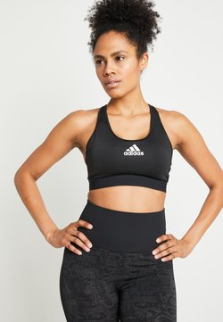 adidas Performance - DESIGNED4TRAINING WORKOUT BRA MEDIUM SUPPORT - Urheiluliivit - black
