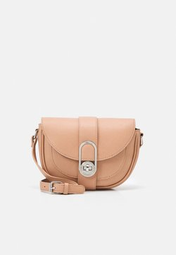 Dorothy Perkins - CADITWISTLOCK SADDLE CROSS BODY BAG - Sac bandoulière - nude