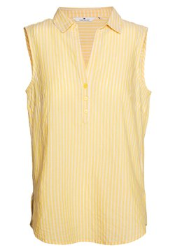 TOM TAILOR - BLOUSE STRIPED - Bluse - yellow