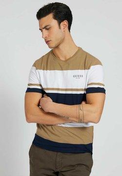 Guess - VORN STREIFENMUSTER - T-Shirt print - mehrfarbig braun