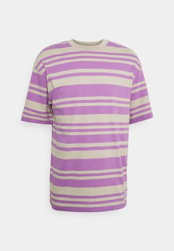 Jack & Jones PREMIUM - JPRBLACUBE TEE CREW NECK - T-Shirt print - pure cashmere