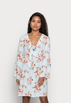 VILA PETITE - VIMESA SHORT DRESS PETITE - Vapaa-ajan mekko - cashmere blue