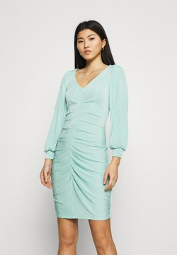 Closet - PLEATED FRONT PENCIL DRESS - Vestido de tubo - mint