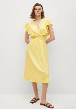 Mango - Sukienka letnia - pastellgelb