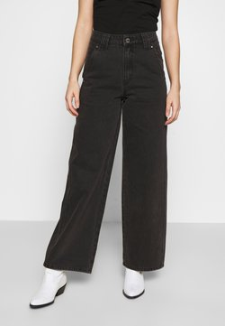 Lost Ink Petite - BALLOON - Straight leg jeans - black