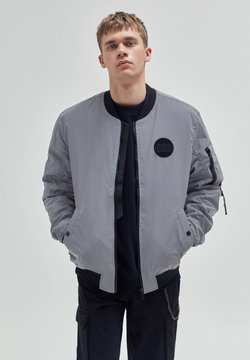 PULL&BEAR - Giubbotto Bomber - mottled light grey