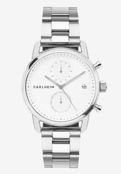 Carlheim - Rannekello ajanottotoiminnolla - silver/white