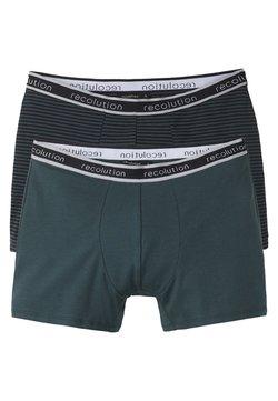 recolution - 2 PACK - Panties - dark green / black