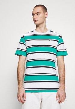 Nike Sportswear - STRIPE TEE - T-Shirt print - white/neptune green/black