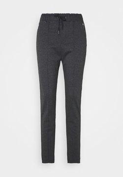 TOM TAILOR DENIM - HOUNDSTOOTH PANTS - Stoffhose - black grey