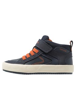 Geox - ALONISSO BOY - Sneaker high - navy/dark orange