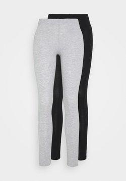 Even&Odd - 2 PACK - Legging - mottled light grey/black