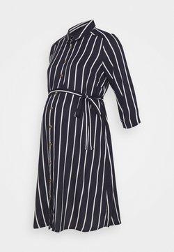 MAMALICIOUS - NURSING DRESS - Blusenkleid - navy blazer/snow white