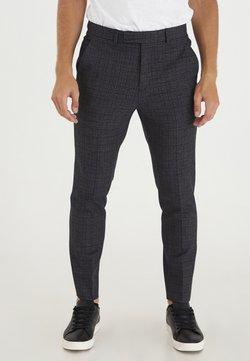 Casual Friday - PATRIK SMALL CHECKED PANTS - Kangashousut - navy blazer