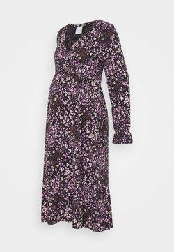 Mamalicious Curve - MLMAI MIDI DRESS - Vestido ligero - black/purple
