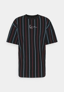 Karl Kani - SMALL SIGNATURE PINSTRIPE TEE - T-Shirt print - black