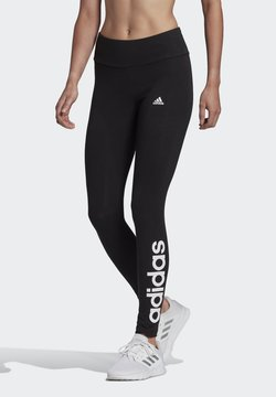 adidas Performance - LIN LEG - Tights - black/white
