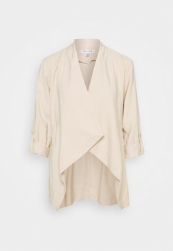 Forever New - KAT ZIP DETAIL WATERFALL JACKET - Blazer - beige