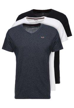 Hollister Co. - 3 PACK - T-shirt basique - white