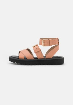 ONLY SHOES - ONLMALU CHUNKY WRAP - Korkeakorkoiset sandaalit - pink
