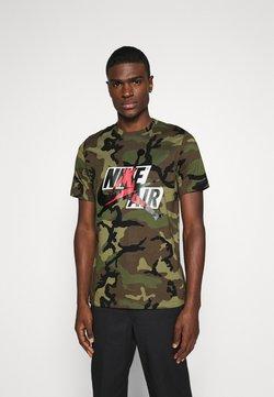 Jordan - CREW - T-Shirt print - medium olive/gym red