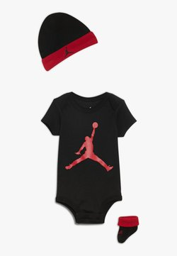 Jordan - JUMPMAN HAT BOOTIE SET - Mütze - black/gym red