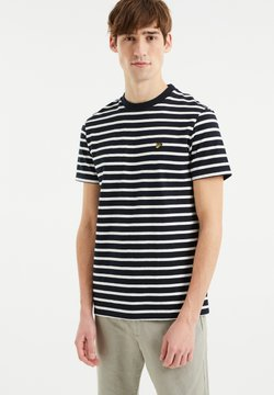 WE Fashion - MET STREEPDESSIN - T-Shirt print - dark blue