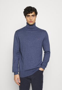 Tommy Hilfiger - PIMA ROLL NECK - Pullover - faded indigo heather