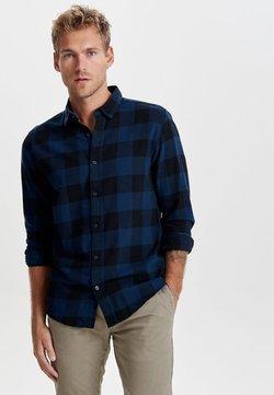 Only & Sons - ONSGUDMUND CHECKED - Skjorte - dark blue, anthracite