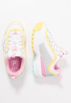 Fila - DISRUPTOR CB  - Matalavartiset tennarit - white/limelight